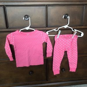 Carter's 2 Piece Girl Pajama Set - 12 m